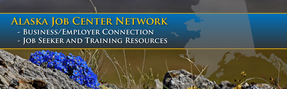 Image displaying promotion for the Alaska Job Center Network